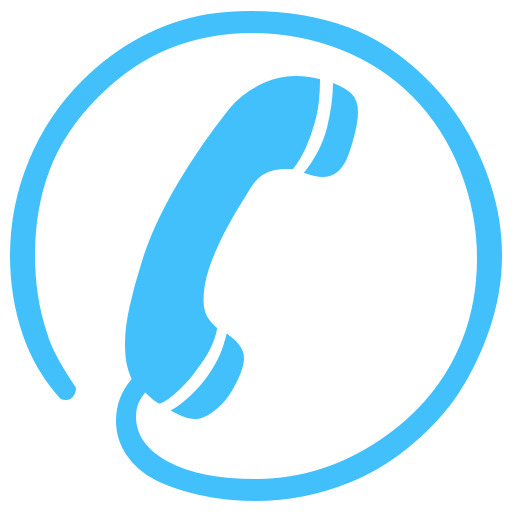 Contact Us Icon Blue Images
