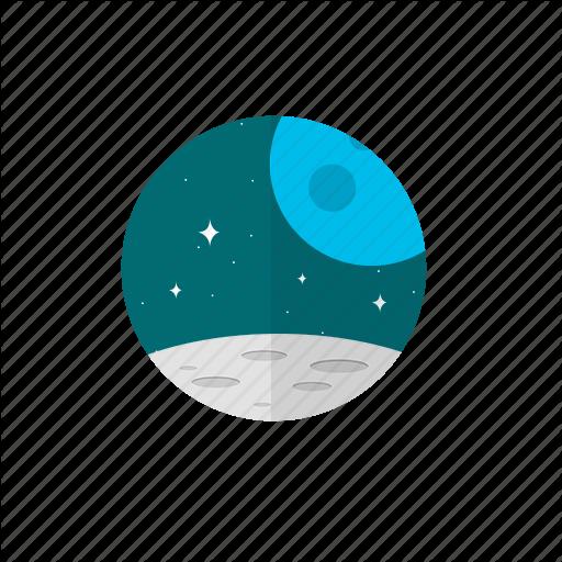 Mars, Moon, Space, Stars Icon