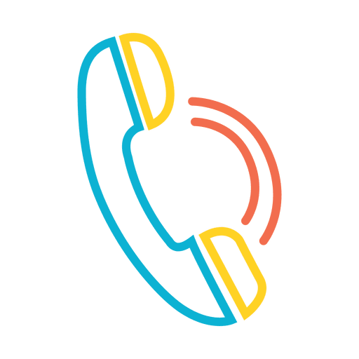 Phone Receiver Colorful Icon