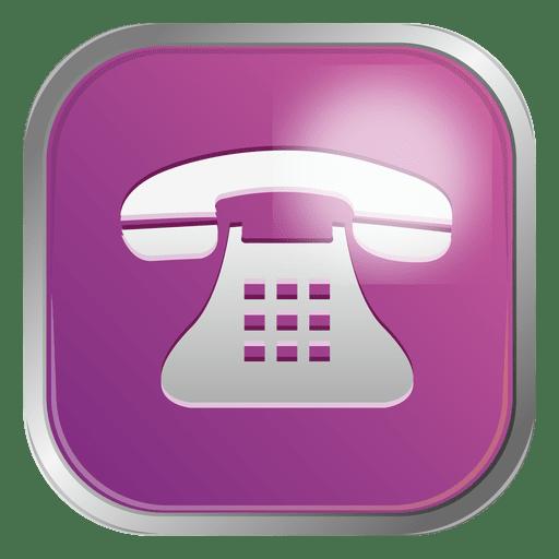 Purple Telephone Icon