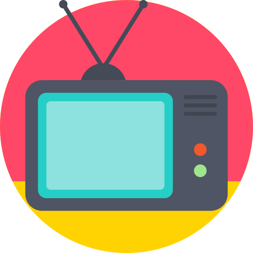 Rounded, Television, Tv Icon Free Of Round Varieties