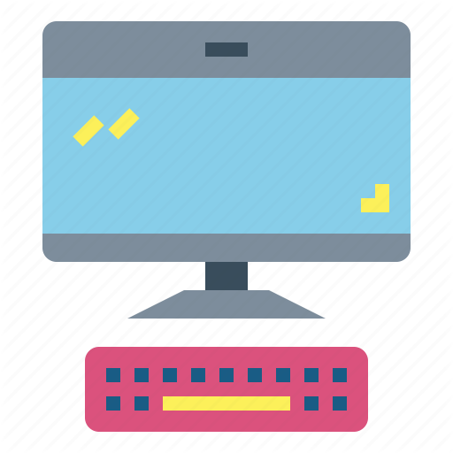 Computer, Electronic, Screen, Television Icon
