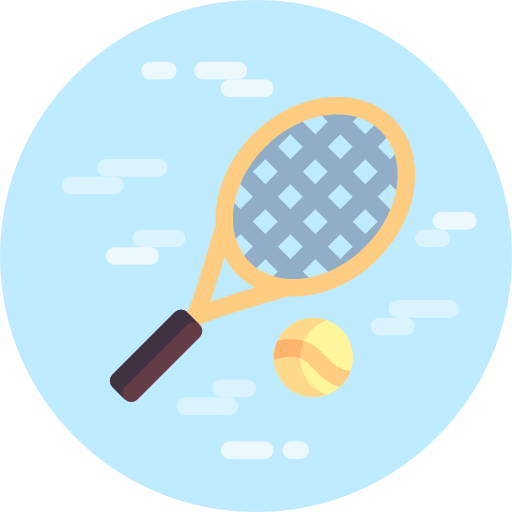 Tennis Ball, Sports, Ball, Tennis, Player, Racket Icon