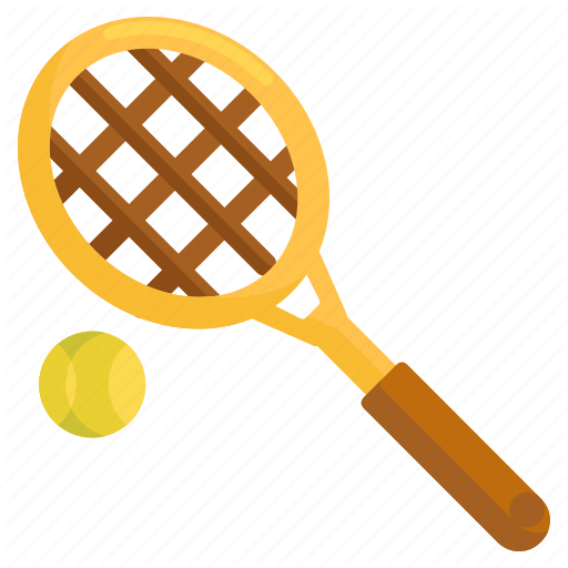 Tennis, Tennis Ball, Tennis Racquet Icon