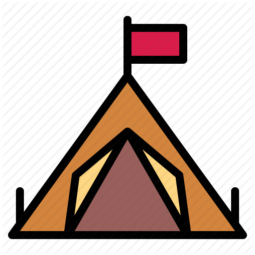 C Camping, Tent Icon