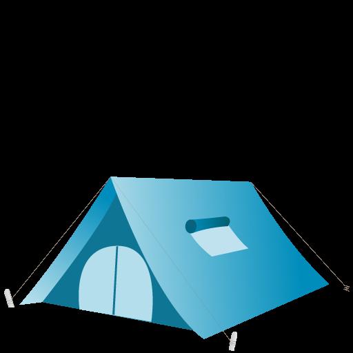 Tent Icon Summer Blue Iconset Dapino