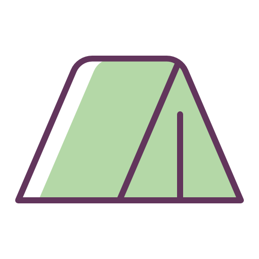 Tent Icon Free Of Line Color Mix Icons