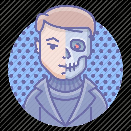 Cyborg, Man, Terminator Icon