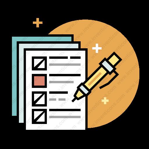 Download Exam,test,examination,paper Icon Inventicons