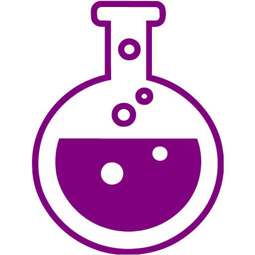 Purple Test Tube Icon