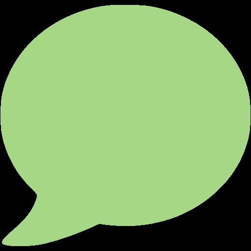 Guacamole Green Speech Bubble Icon