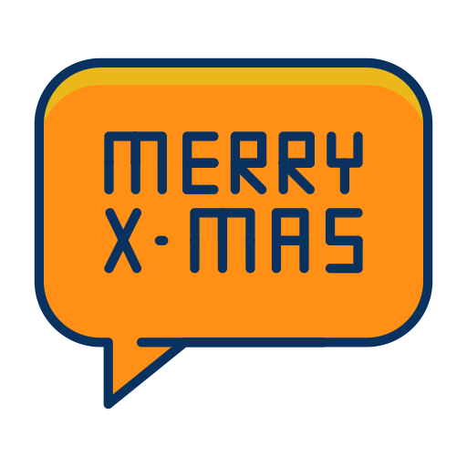 Text, Bubble, Speech, Message, Christmas, Merry Icon