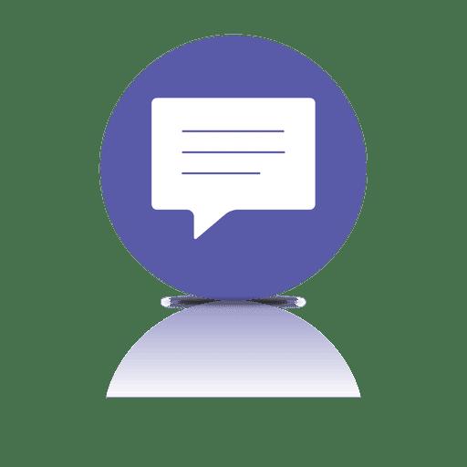 Text Bubble Shadow Icon