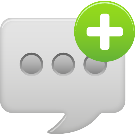 New, Circle, Text, Message Icon Free Of Pretty Office Icons