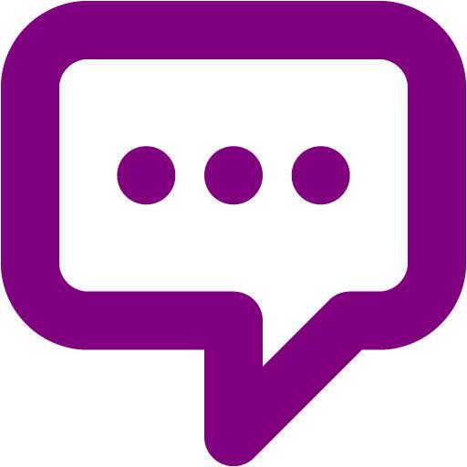 Purple Message Icon