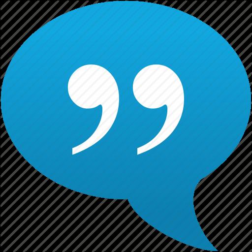 Citation, Cite, Comment, Message, Quotation, Quote, Speech Icon