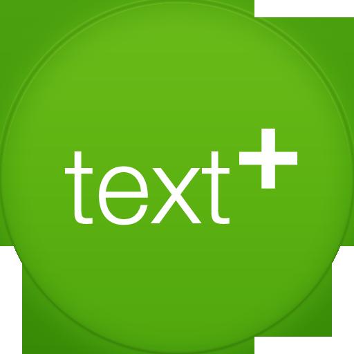 Text Plus Icon Circle Addon Iconset