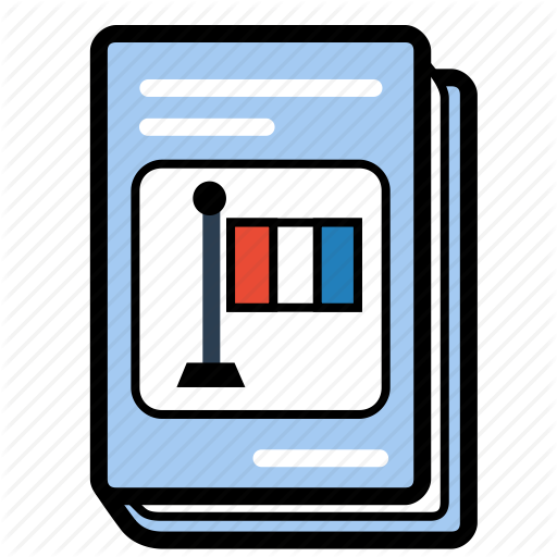 Book, French, Schoolbook, Textbook Icon