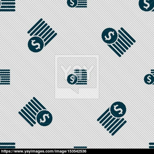 Buyer Menu Icon Sign Seamless Pattern With Geometric Texture