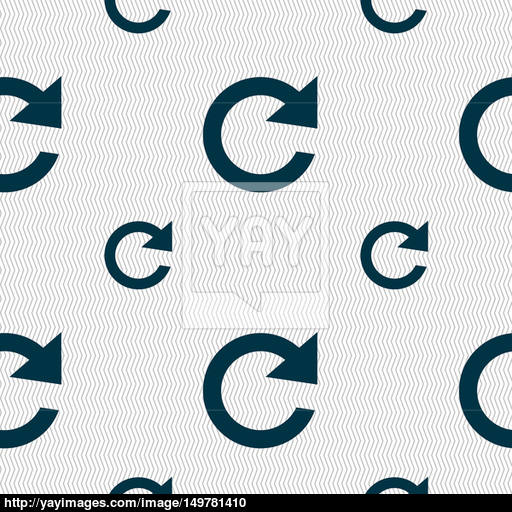 Update Sign Icon Full Rotation Arrow Symbol Seamless Pattern