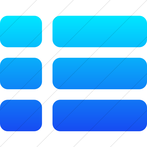 Simple Ios Blue Gradient Bootstrap Font Awesome Th List