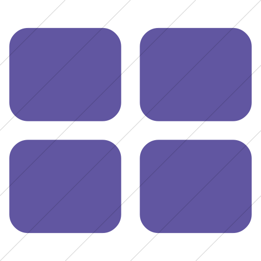 Simple Purple Bootstrap Font Awesome Th Large Icon
