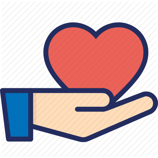 Give, Giving, Hand, Heart, Love, Thank You Icon