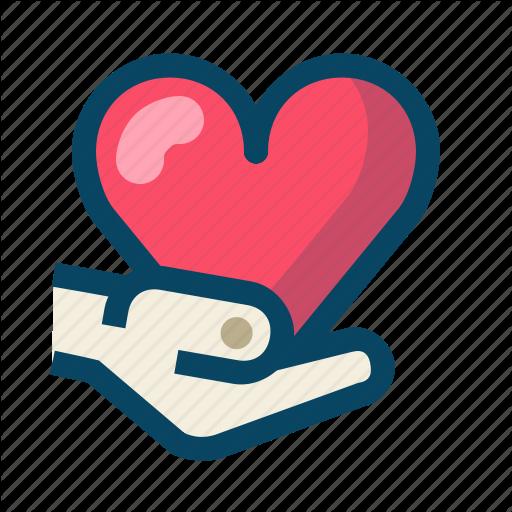 Give, Heart, Love, Thank, Thank You, Valentin, Yumminky Icon