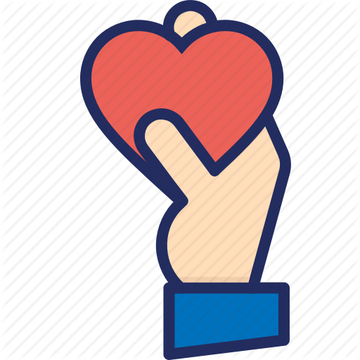 Give, Hand, Heart, Love, Thank You, Thanks Icon
