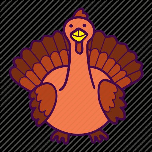 Bird, Thanksgiving, Turkey Icon