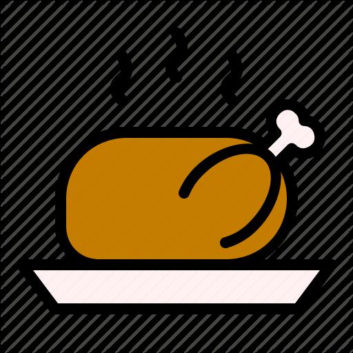 Chicken, Dinner, Food, Roast Turkey, Thanksgiving Icon