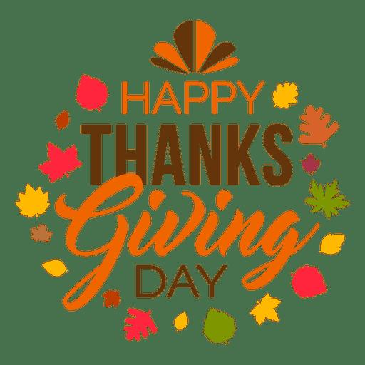 Happy Thanksgiving Day Logo