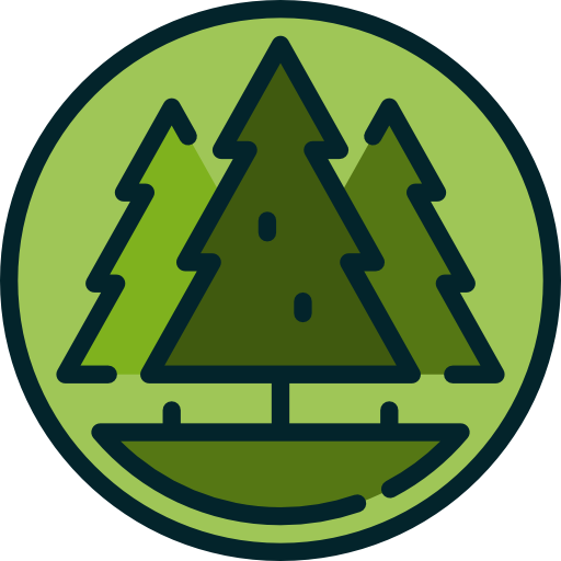 Pines, Park, Woods, Pine, Trees, Nature, Forest Icon