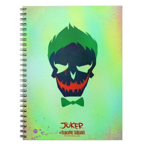 Suicide Squad Joker Head Icon Notebook Marvel And Dc Products