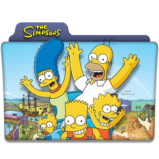 The Simpsons Tv Series Folder Icon
