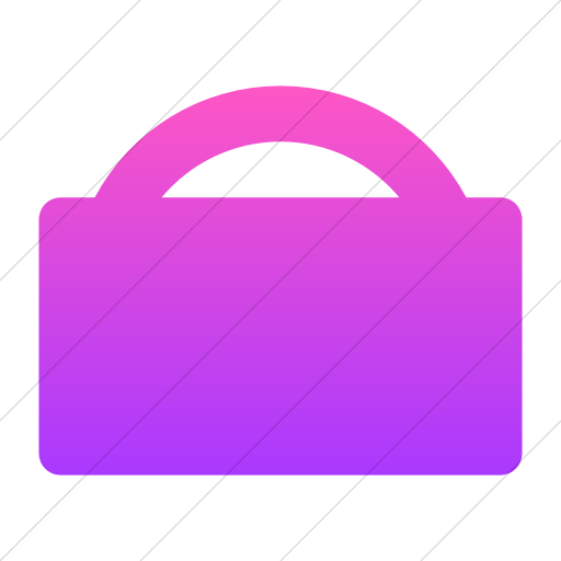 Simple Ios Pink Gradient Foundation Shopping Bag Icon