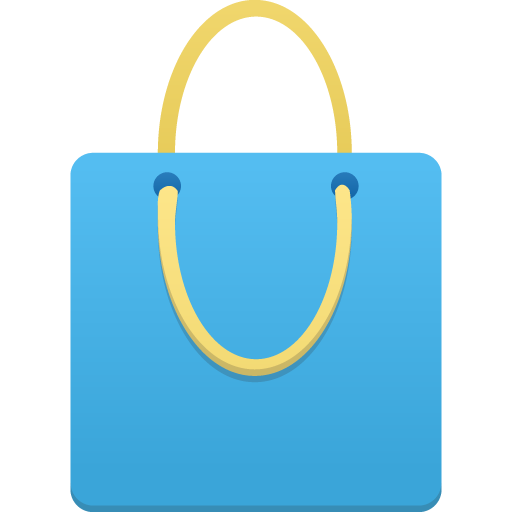 Shopping Bag Blue Icon Flatastic Iconset Custom Icon Design