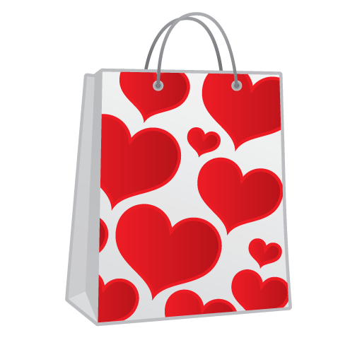 Shopping Bag Hearts Icon Love And Breakup Iconset Kevin Thompson