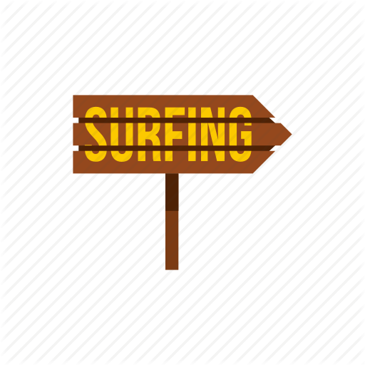 Arrow, Board, Direction, Post, Surfboard, Surfing, Word Icon