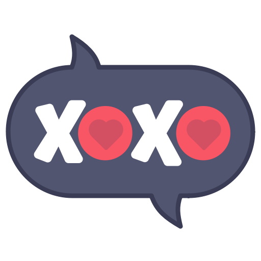 Kiss, Layer, Message, Photo, Sticker, Word, Xoxo Icon