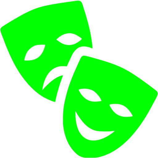 Lime Theatre Masks Icon