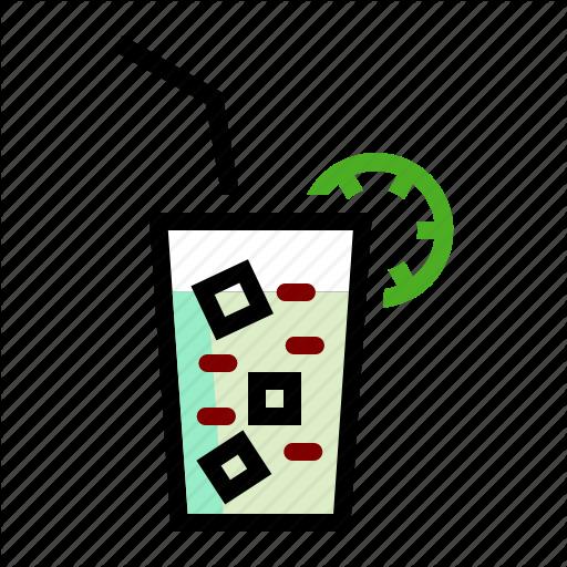 Drink, Ice, Juice, Lemon, Thirsty Icon