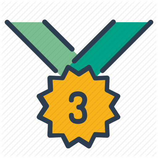 Bronze, Medal, Number Three, Prize Icon