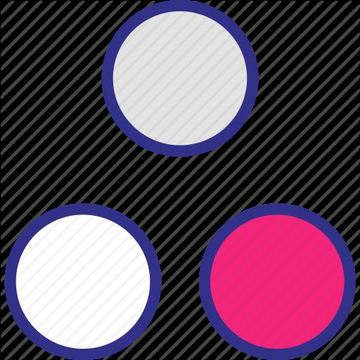 Assorted, Dots, Shape, Three Icon