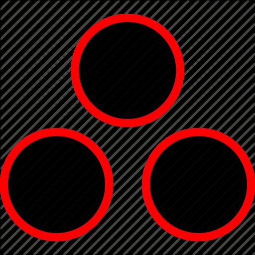 Colors, Dots, Three Icon