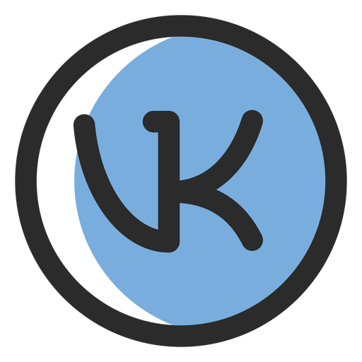 Vk Colored Stroke Icon