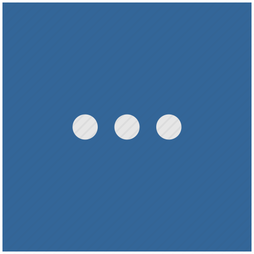 Blue, Deep, Dots, Menu, More, Square Icon
