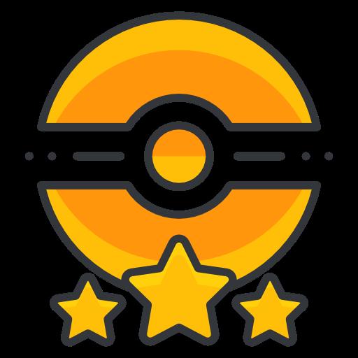 Poke, Trainer, Three, Star, Pokemon Go, Game Icon Free