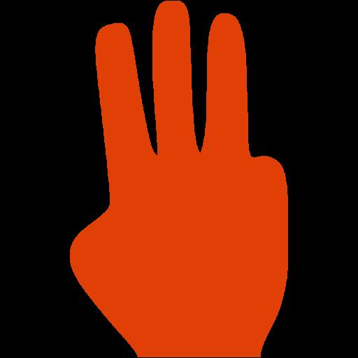 Soylent Red Three Fingers Icon