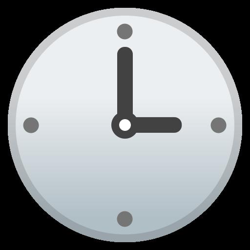 Three O Clock Icon Noto Emoji Travel Places Iconset Google
